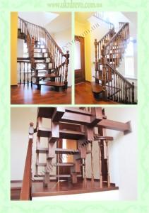 Воздушная деревянная лестница