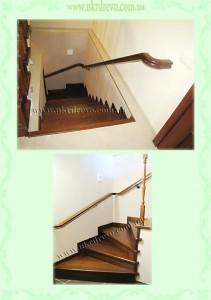 Деревянная лестница на ботоне в подвал