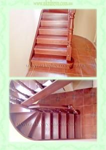 еревянная лестница с изгибом тетивы вид 1