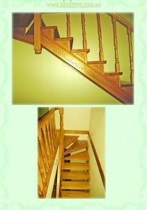 Деревянная лестница без подступней