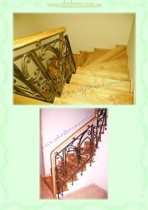 Деревянная лестница ограждение ковка
