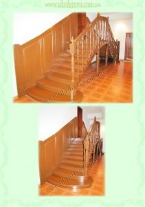 Деревянная лестница на два входа