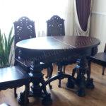 Деревянный стол стулья